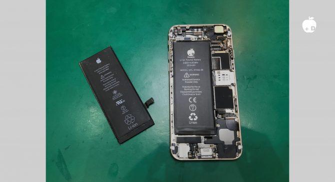 弱ったバッテリーを取り外し新しいバッテリーを取り付けていきます。