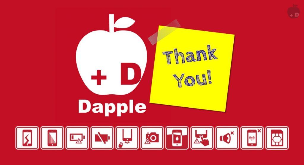 愛知県名古屋市緑区にあるiPhone修理・買取・格安SIMのDapple名古屋緑店をご利用いただきありがとうございました